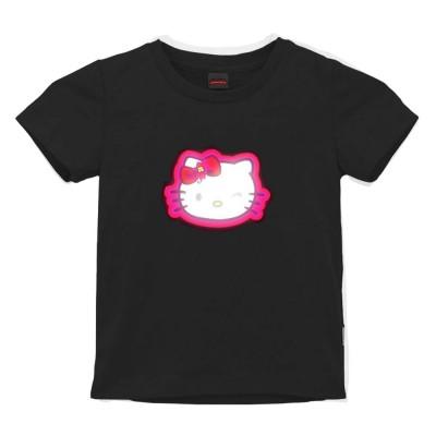 Tricou Hello Kitty cu Egalizator LED pentru copii - Display luminos, Bumbac, Negru