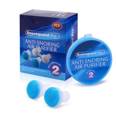 AntiSforait pentru nas 2in1 - Tratarea sforaitului si a apneei, Purificator de aer, 2 perechi, Silicon Medical