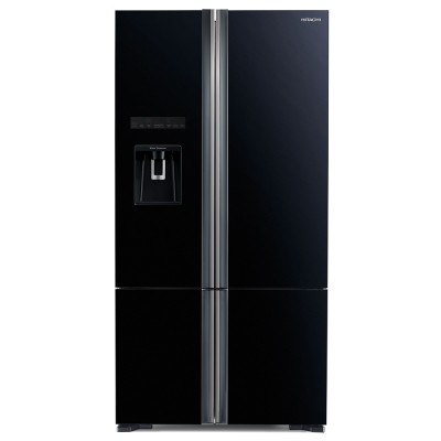 Side by Side Hitachi R-WB800PRU6X(GBK), Clasa A++, 640 Litri, Full No Frost, 183 cm inaltime, Sticla neagra