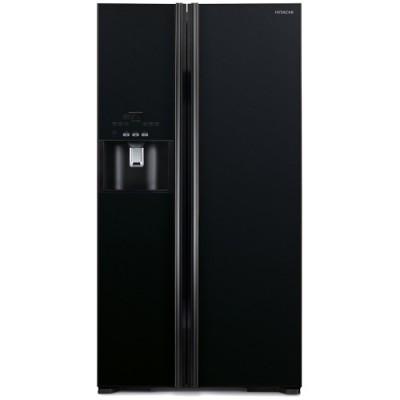 Side by Side Hitachi R-S700GPRU2(GBK), Clasa A++, 651 Litri, 177 cm inaltime, Sticla neagra